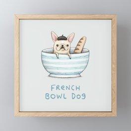 French Bowl Dog Framed Mini Art Print
