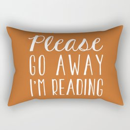 Please Go Away I'm Reading (Orange) Rectangular Pillow