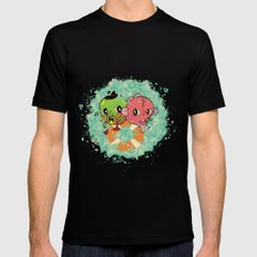 The Pond Lovers - Mr. Froggy and Ms Goldfish Black MEDIUM Mens Fitted Tee