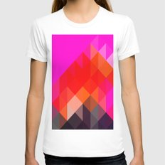 Modern Totem 02. MEDIUM Womens Fitted Tee White
