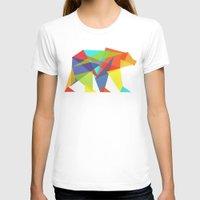 T-shirts featuring Fractal Geometric bear by Picomodi