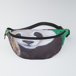 Panda in a Tree Painting Fanny Pack