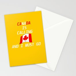 Canada Saying Maple Leaf Red White Stationery Cards