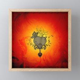Wonderful heart with butterflies Framed Mini Art Print