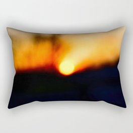 Unfocused sunrise Rectangular Pillow