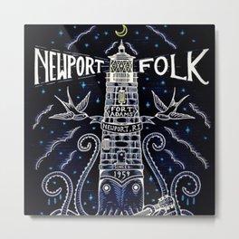 Tribute 1959 Newport Folk Festival - Fort Adams, Newport, Rhode Island portrait painting Metal Print