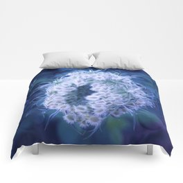 Light Blue Closing Queen Anne's Lace Comforters