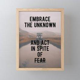 Motivation - Embrace the unknown Framed Mini Art Print