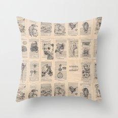 The Dead Alphabet Throw Pillow