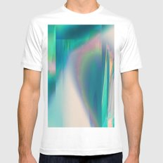 Pacifica glitch Mens Fitted Tee White MEDIUM