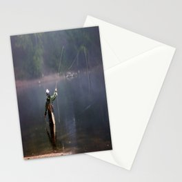 Misted Fly Fishing Stationery Cards