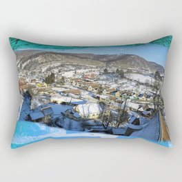 winter village Rectangular Pillow