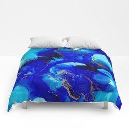 Deep Blue Comforters