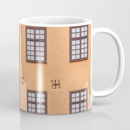 Gamla Stan in Stockholm, Sweden || Colorful travel photography architecture minimalistic city red orange yellow Scandinavia House Old Town Coffee Mug