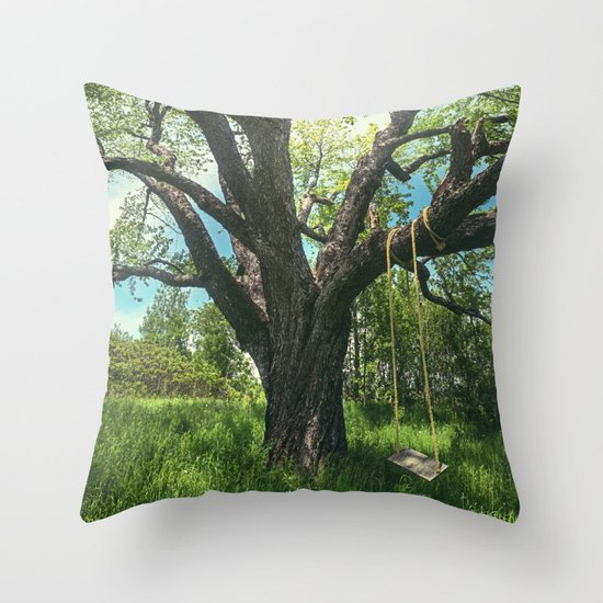 Swing the Summer Away Throw Pillow