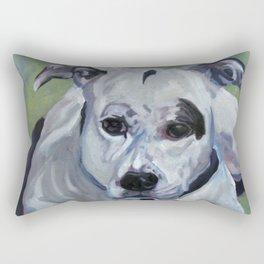 Staffordshire Terrier Dog Portrait Rectangular Pillow