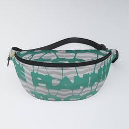 Never look back - Quote Fanny Pack