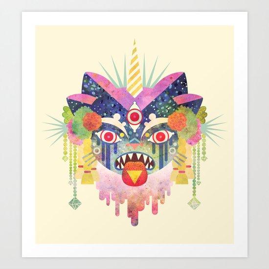 Demon Kitty Art Print
