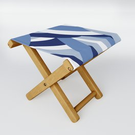Pucciana Blue Folding Stool