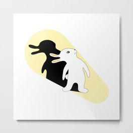 Rabbit Duck Shadow Puppet Metal Print