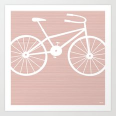 Pink Bike by Friztin Art Print
