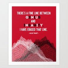 Oscar Levant Quote Art Print