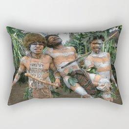 Papua New Guinea Villagers 'Play Fighting' Rectangular Pillow