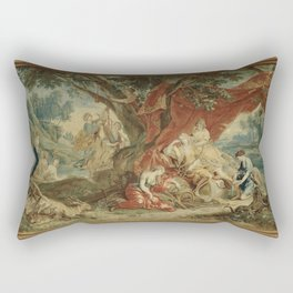 Resting Diana, from the Triumph of the Gods Rectangular Pillow