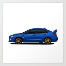 Subaru WRX Art Print