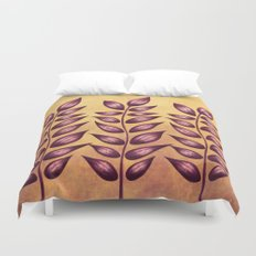 Abstract Plant With Purple Leaves Duvet Cover