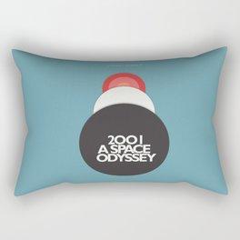 2001 a Space Odyssey - Stanley Kubrick, minimal movie poster, rétro film playbill, sci-fi Rectangular Pillow