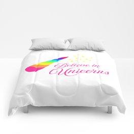 Believe in Unicorns Comforters