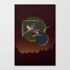Ahsoka Attacks Canvas Print