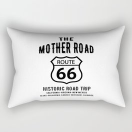 The Mother Road Route 66 - Historic Road Trip Rectangular Pillow