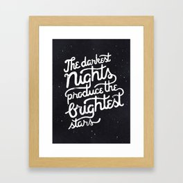 Darkest Nights Framed Art Print