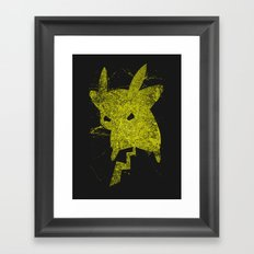 Yellow Monster Framed Art Print