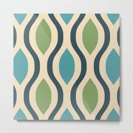 Pretty Ogee Pattern 339 Metal Print