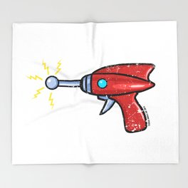 Ray Gun Throw Blanket