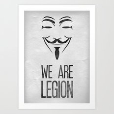 We Are Legion Art Print