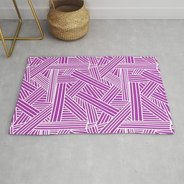 Sketchy Abstract (White & Purple Pattern) Rug