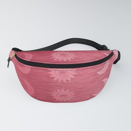 Pink Sun and Moon Rows Fanny Pack