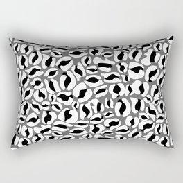 Leopard Print | black and white monochrome | Cheetah texture pattern Rectangular Pillow