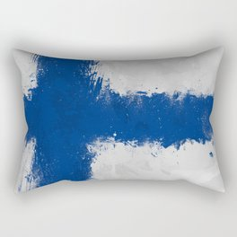 Finland Flag Grunge Rectangular Pillow