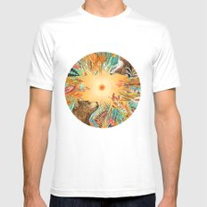 WHIRLWIND White Mens Fitted Tee MEDIUM