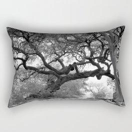 Gray Tree Rectangular Pillow