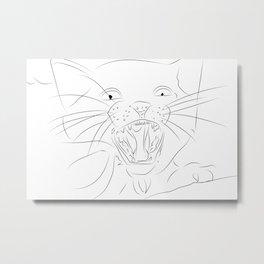 Cat line art Metal Print