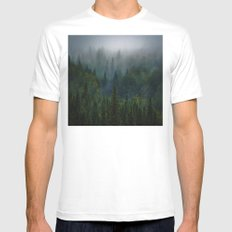 I dream in evergreen White MEDIUM Mens Fitted Tee