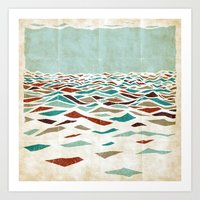 minimal Art Prints featuring Sea Recollection by Efi Tolia