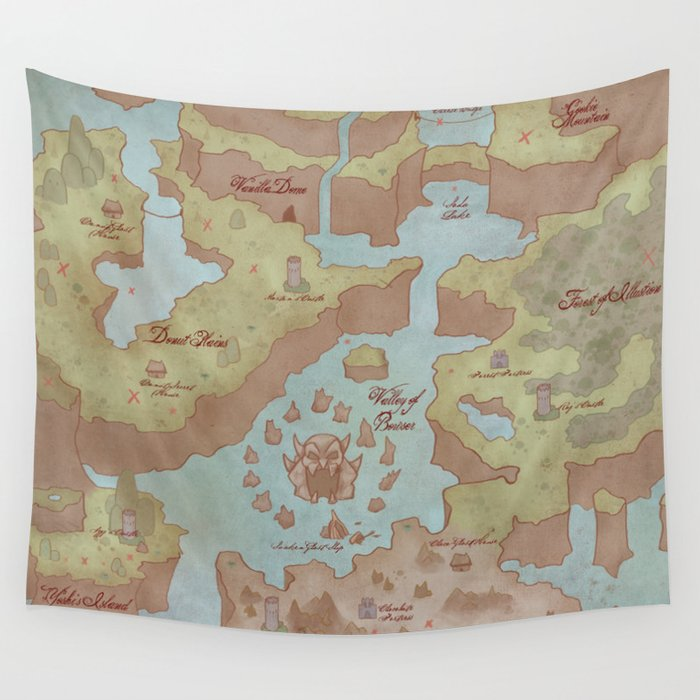 Super mario world map vintage style wall tapestry by super mario world map vintage style wall tapestry gumiabroncs Images