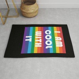 I Am Cool With It LGBT Gay Lesbian Transgender Gift Rug
